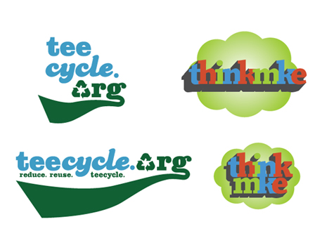 Teecycle.org and ThinkMKE.com Logo Development