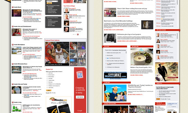 Out with the old, in with the new: Redesigning OnMilwaukee for 2012