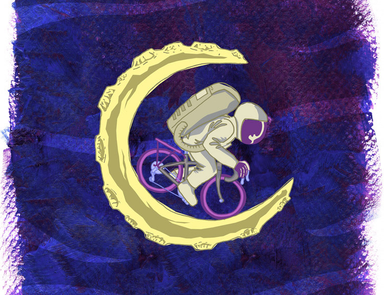 Lunar Cycle illustration by Little Tiny Fish.