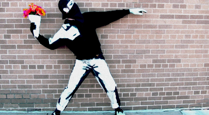 "A brief history of my Banksy ""Flower Bomber"" costume"