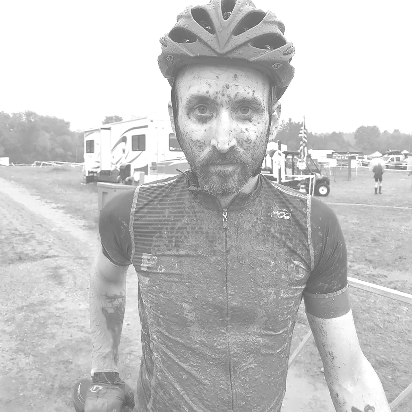 Jason after his cyclocross ride at Trek CX Cup in 2019