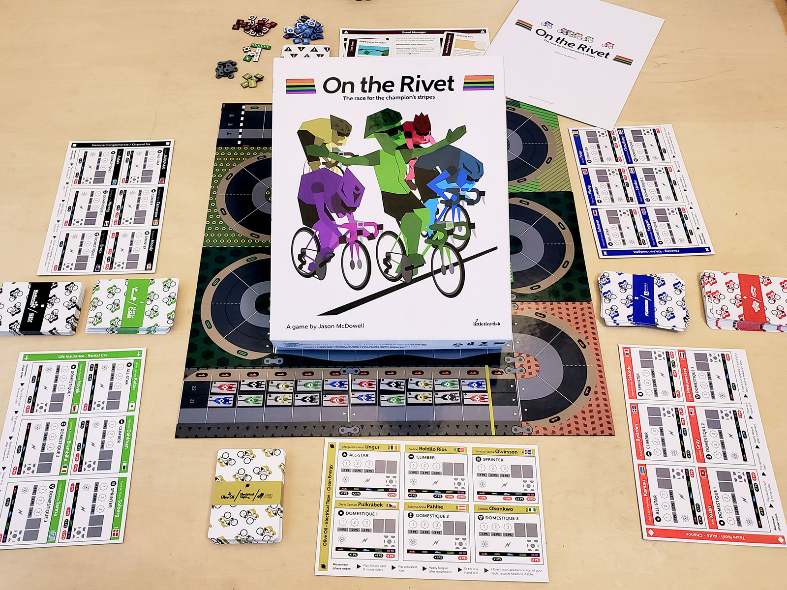 Press Release – 09/05/2020 – Road racing board game, On the Rivet, has been successfully funded on Kickstarter